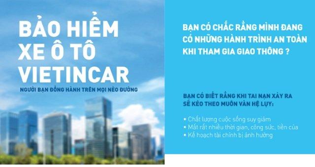 mua bảo hiểm ô tô bắt buộc online tại VBI Vietinbank